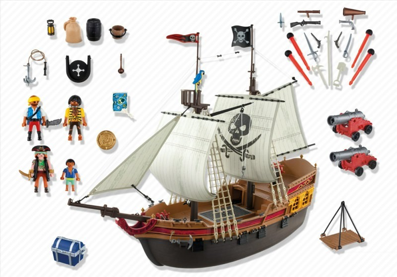 playmobil set 5135 pirate prize ship klickypedia. Black Bedroom Furniture Sets. Home Design Ideas