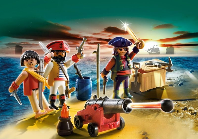 Playmobil set 5136 pirates command post with gun for Playmobil post