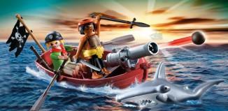 Playmobil - 5137 - pirates' rowboat with hammer shark