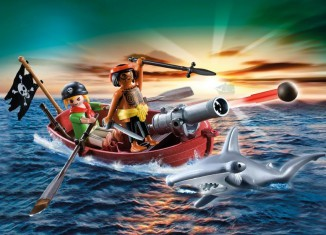 Playmobil - 5137 - pirates' rowboat with hammer shark