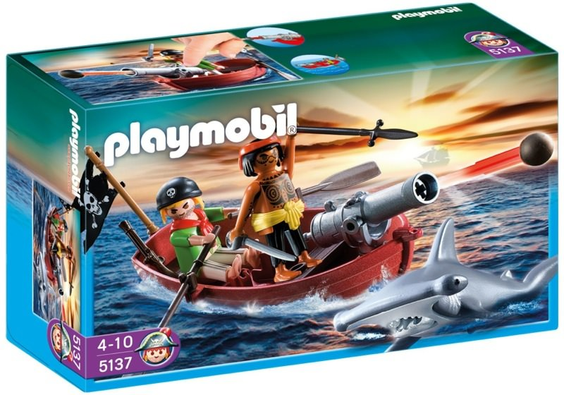 Playmobil 5137 - pirates' rowboat with hammer shark - Box