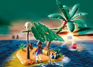 Playmobil - 5138 - schiffbrüchiger auf palmeninsel