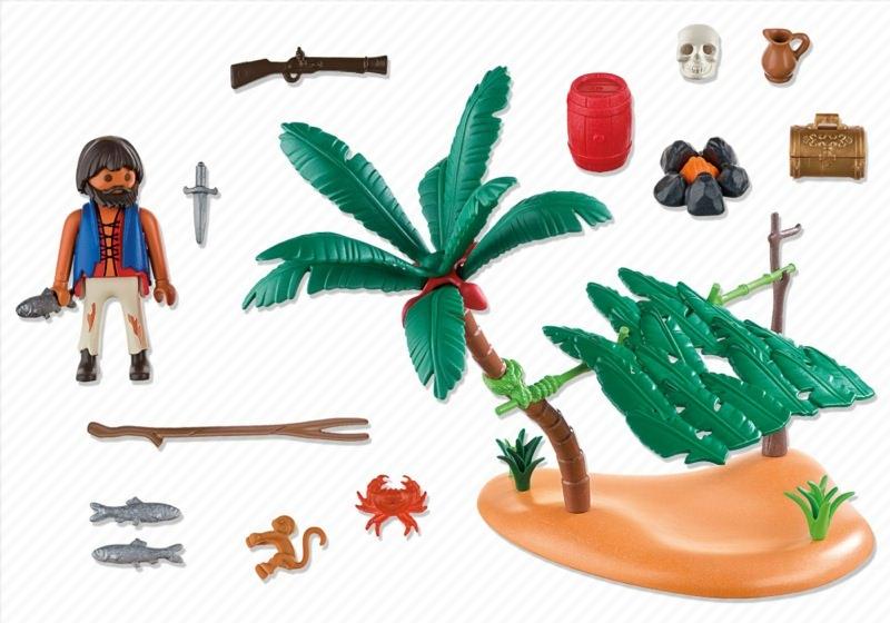 Playmobil 5138 - schiffbrüchiger auf palmeninsel - Zurück