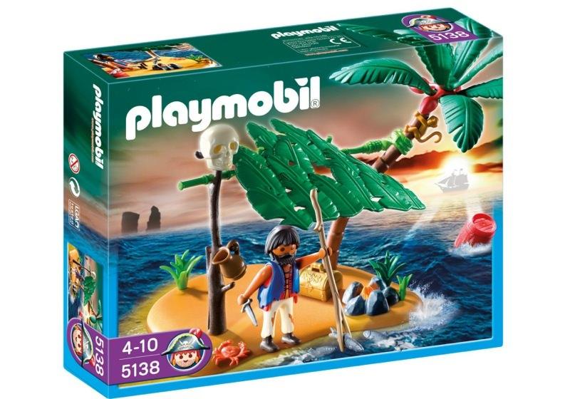 Playmobil 5138 - schiffbrüchiger auf palmeninsel - Box