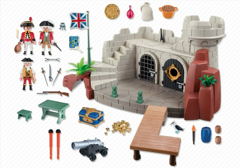 Playmobil 5139 - Soldiers Fort with Dungeon - Back