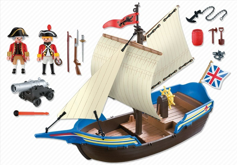 Playmobil 5140 - redcoat cannonboat - Back