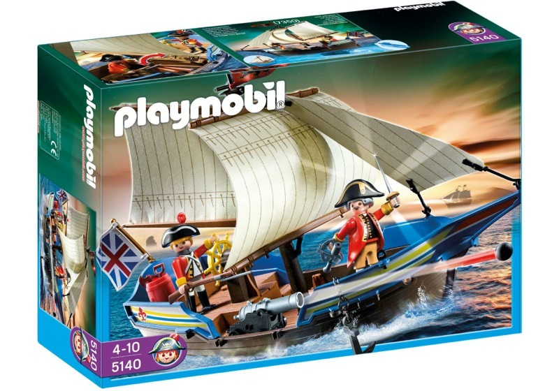 Playmobil 5140 - redcoat cannonboat - Box