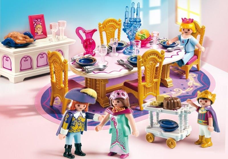 Playmobil set 5145 royal banquet room klickypedia for Salle a manger playmobil 5335