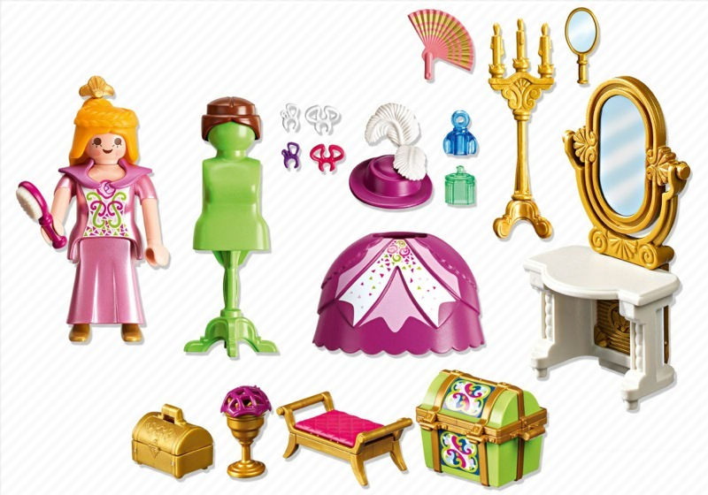 Playmobil 5148 - Royal Dressing Room - Back