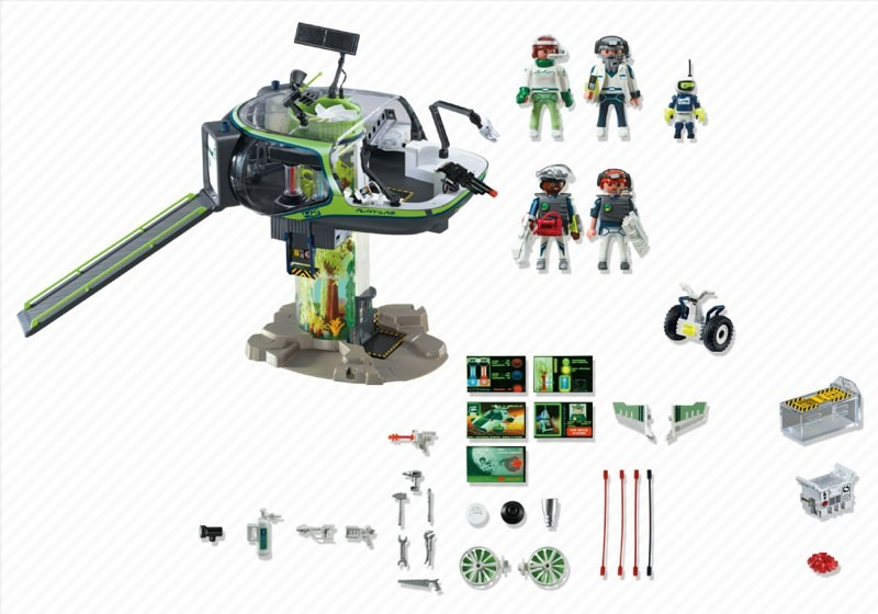 Playmobil 5149 - E-Rangers` Headquarters - Back