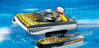 Playmobil - 5161 - Click & Go Croc Speedboat