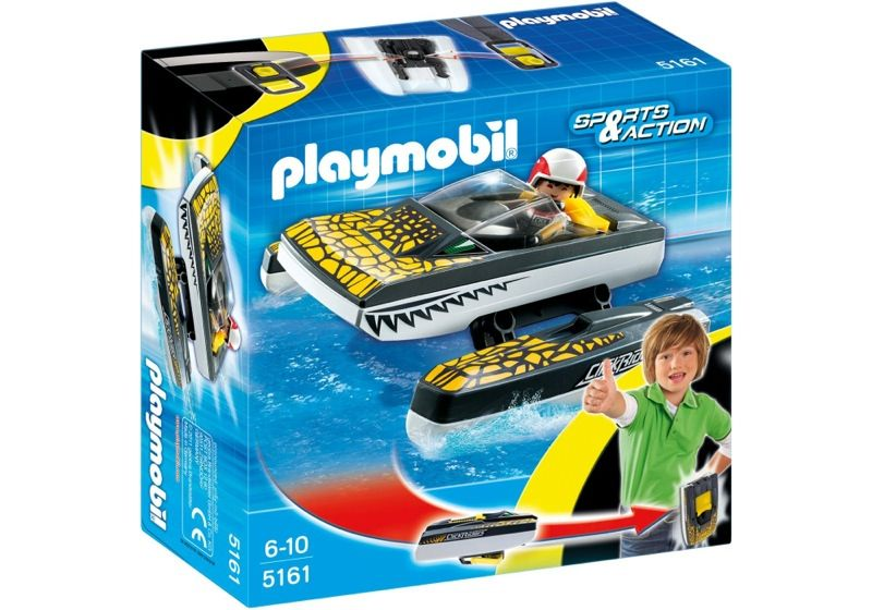 Playmobil 5161 - Click & Go Croc Speedboat - Box