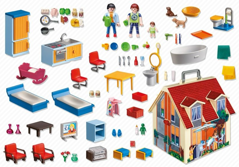 Playmobil 5167 - Take Along Modern Doll House - Back