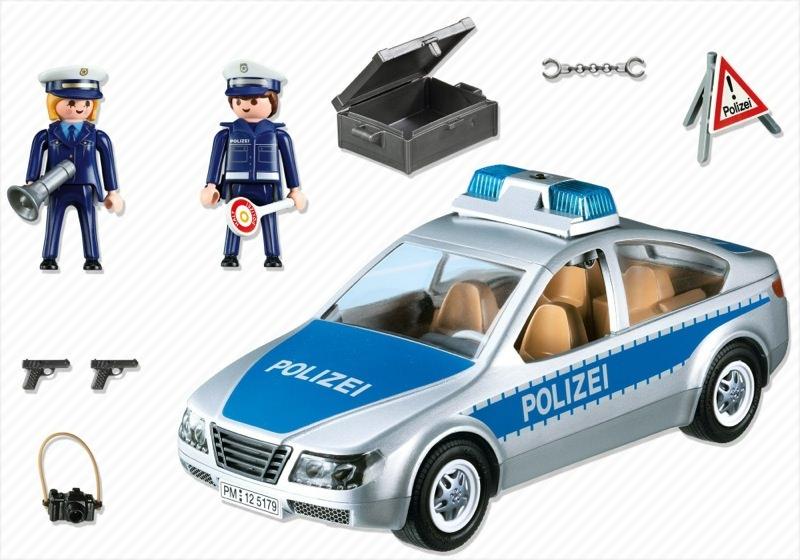 Playmobil 5179 - Polizeifahrzeug mit Blinklicht - Back