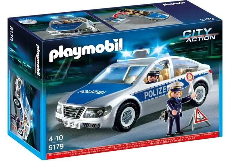 Playmobil 5179 - Polizeifahrzeug mit Blinklicht - Box