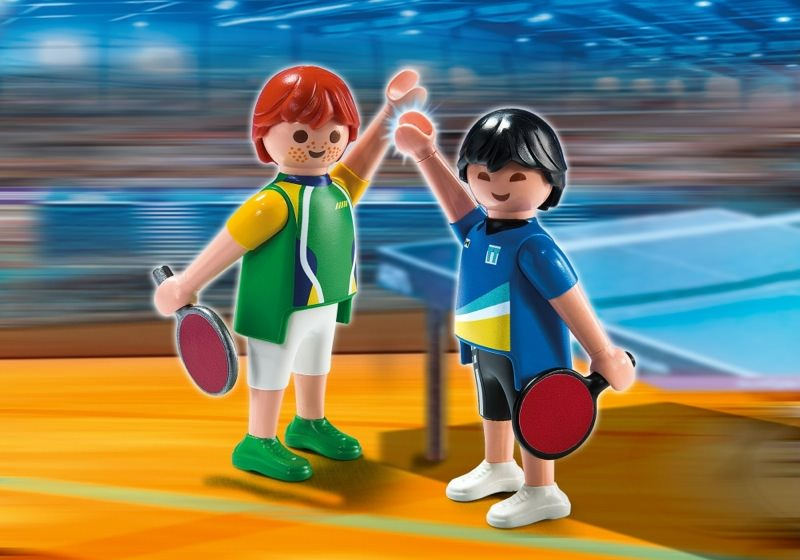 Playmobil set 5197 2 table tennis players klickypedia for Table playmobil