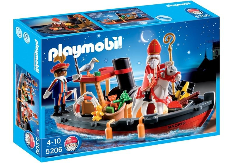 Playmobil 5206 - Father Christmas' Steamboat - Box