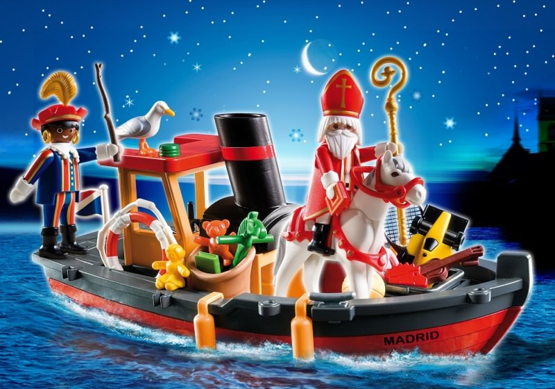 Playmobil - 5206 - Father Christmas' Steamboat