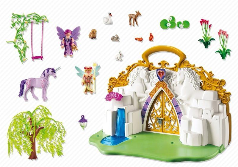 Playmobil 5208 - Take-Along Unicorn Fairy Land - Back