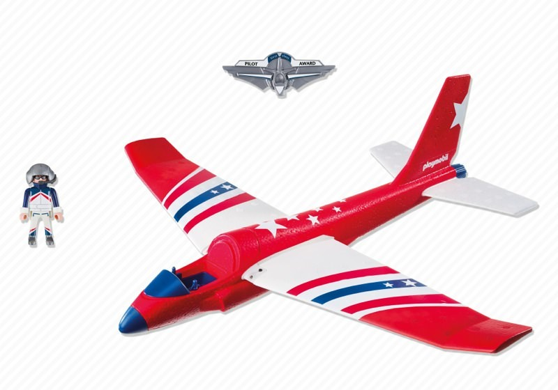 Playmobil 5218 - Red Star Flyer - Back