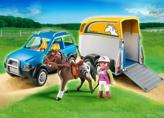 Playmobil - 5223 - SUV with Horse Trailer
