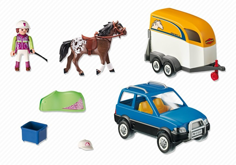 Playmobil 5223 - SUV with Horse Trailer - Back