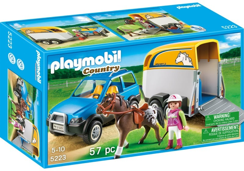 Playmobil 5223 - SUV with Horse Trailer - Box