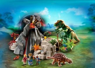 Playmobil - 5230 - Volcano with Tyrannosaurus