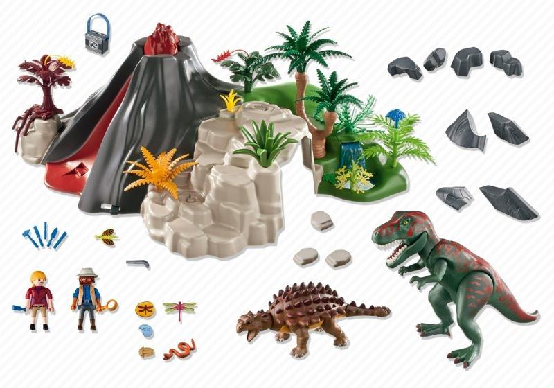 Playmobil 5230 - Volcano with Tyrannosaurus - Back