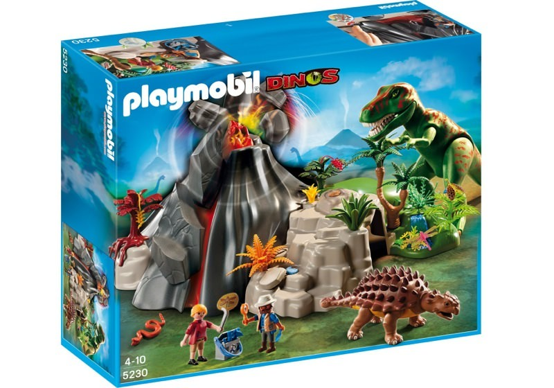 Playmobil 5230 - Volcano with Tyrannosaurus - Box