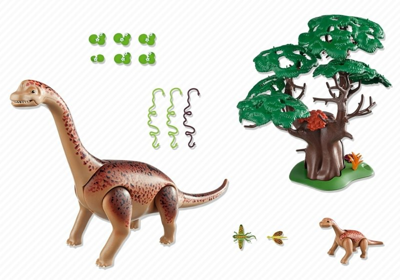 Playmobil 5231 - Brachiosaurus with Baby - Back