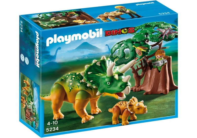 Playmobil 5234 - Explorer and Triceratops with Baby - Box