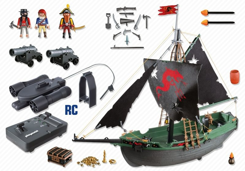 Playmobil 5238 - Pirates Ship with RC Underwater Motor - Back