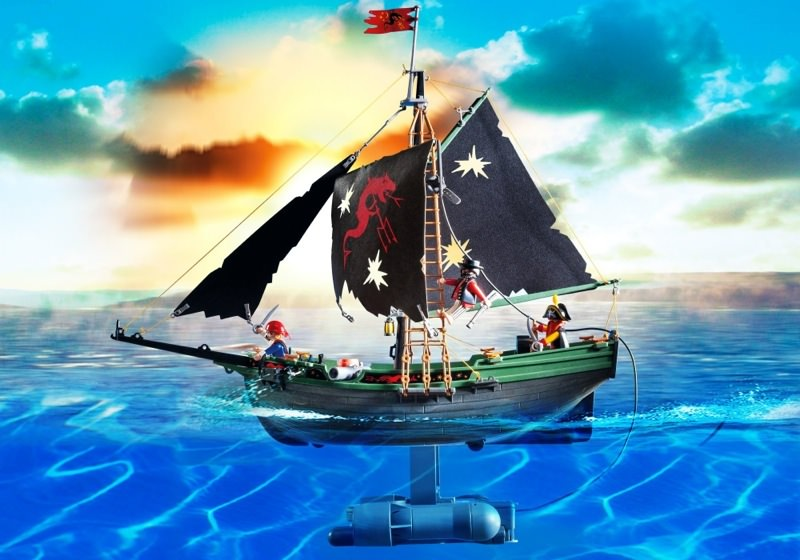 Playmobil Set 5238 Pirates Ship With Rc Underwater Motor Klickypedia