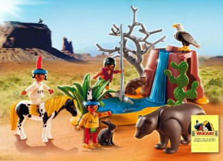 Playmobil - 5252 - Native American Children with Bear Cave