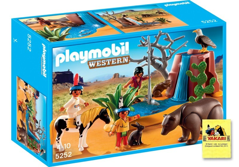 Playmobil 5252 - Native American Children with Bear Cave - Box