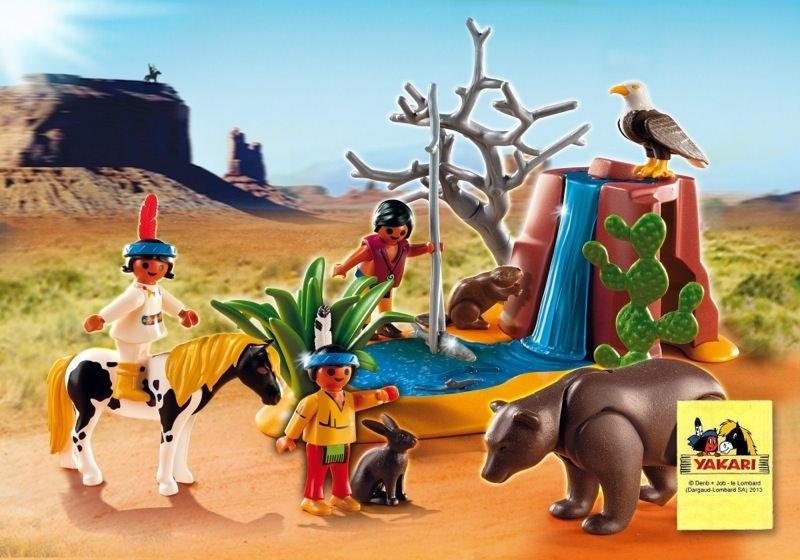 playmobil set 5252  native american children with bear