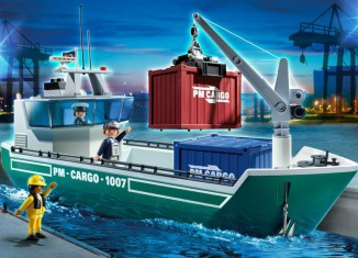 Playmobil - 5253 - Cargo Ship with Loading Crane