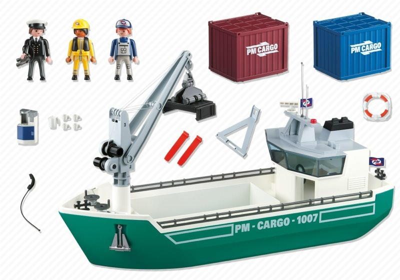 Playmobil 5253 - Cargo Ship with Loading Crane - Back