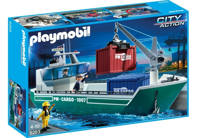 Playmobil 5253 - Cargo Ship with Loading Crane - Box