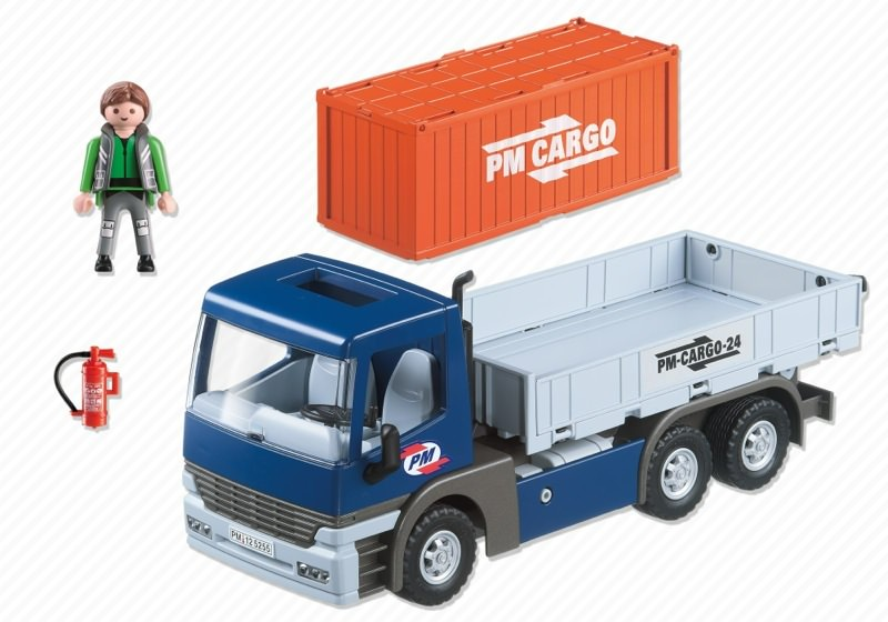 Playmobil 5255 - Cargo Truck with Container - Back