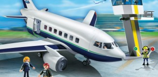 Playmobil - 5261 - Cargo and Passenger Aircraft with Tower