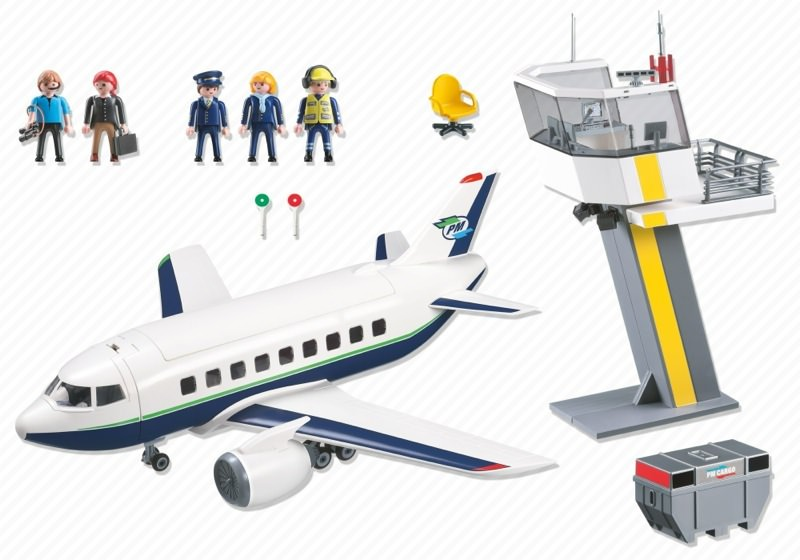 Playmobil 5261 - Cargo and Passenger Aircraft with Tower - Back