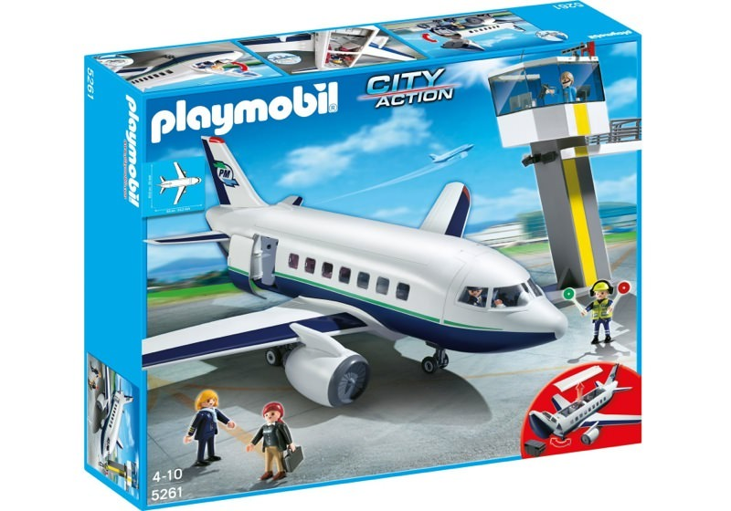 Playmobil 5261 - Cargo and Passenger Aircraft with Tower - Box