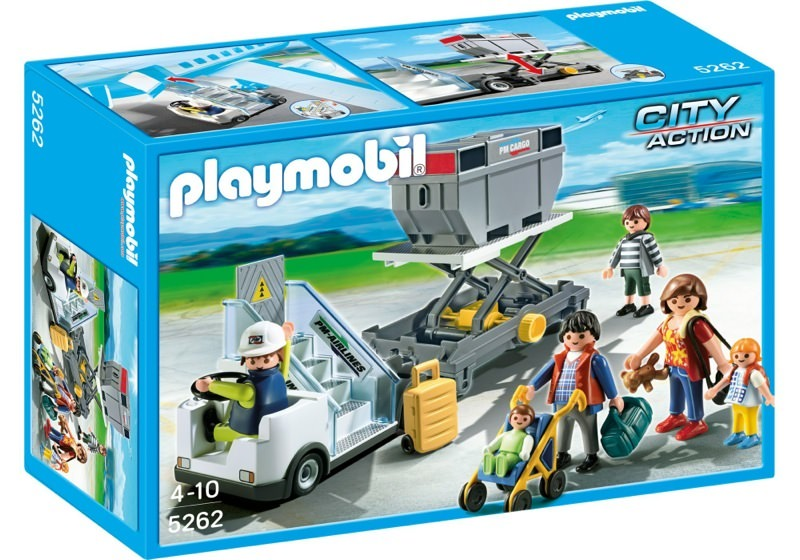 Playmobil 5262 - Aircraft Stairs with Passengers and Cargo - Box