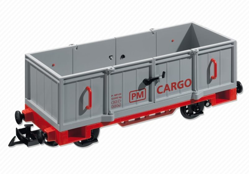 Playmobil 5264 - Open Freight Car - Back