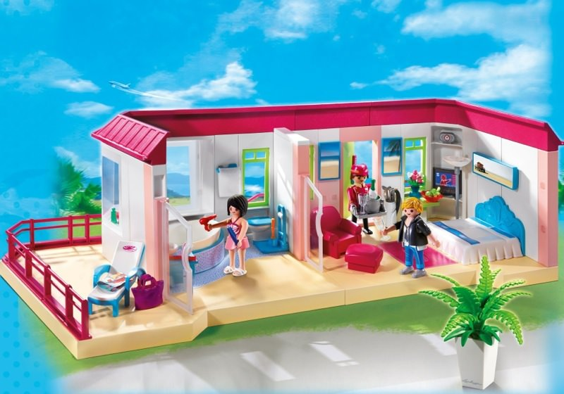 Playmobil set 5269 luxury hotel suite klickypedia for Salle a manger playmobil city life