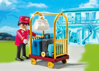 Playmobil - 5270 - Porter with Baggage Cart