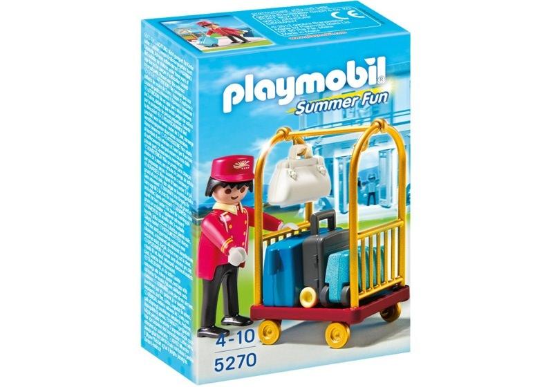 Playmobil 5270 - Porter with Baggage Cart - Box