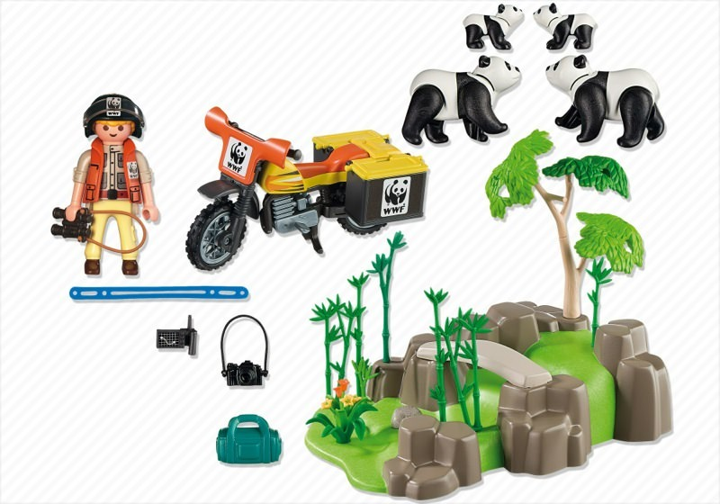 Playmobil 5272 - WWF-Panda Researcher in the Bamboo Forest - Back